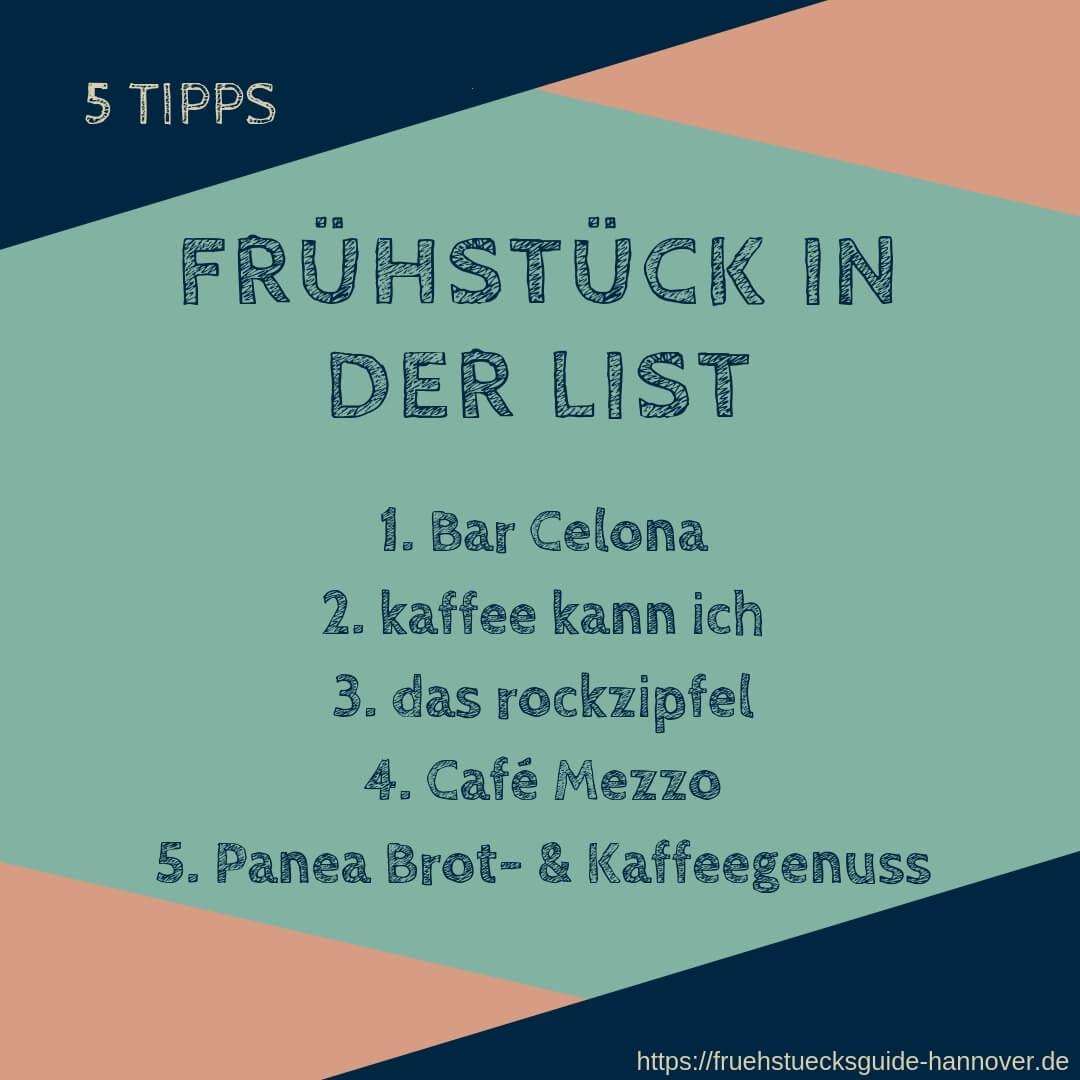 Liste von Frühstückslokalen in Hannover List